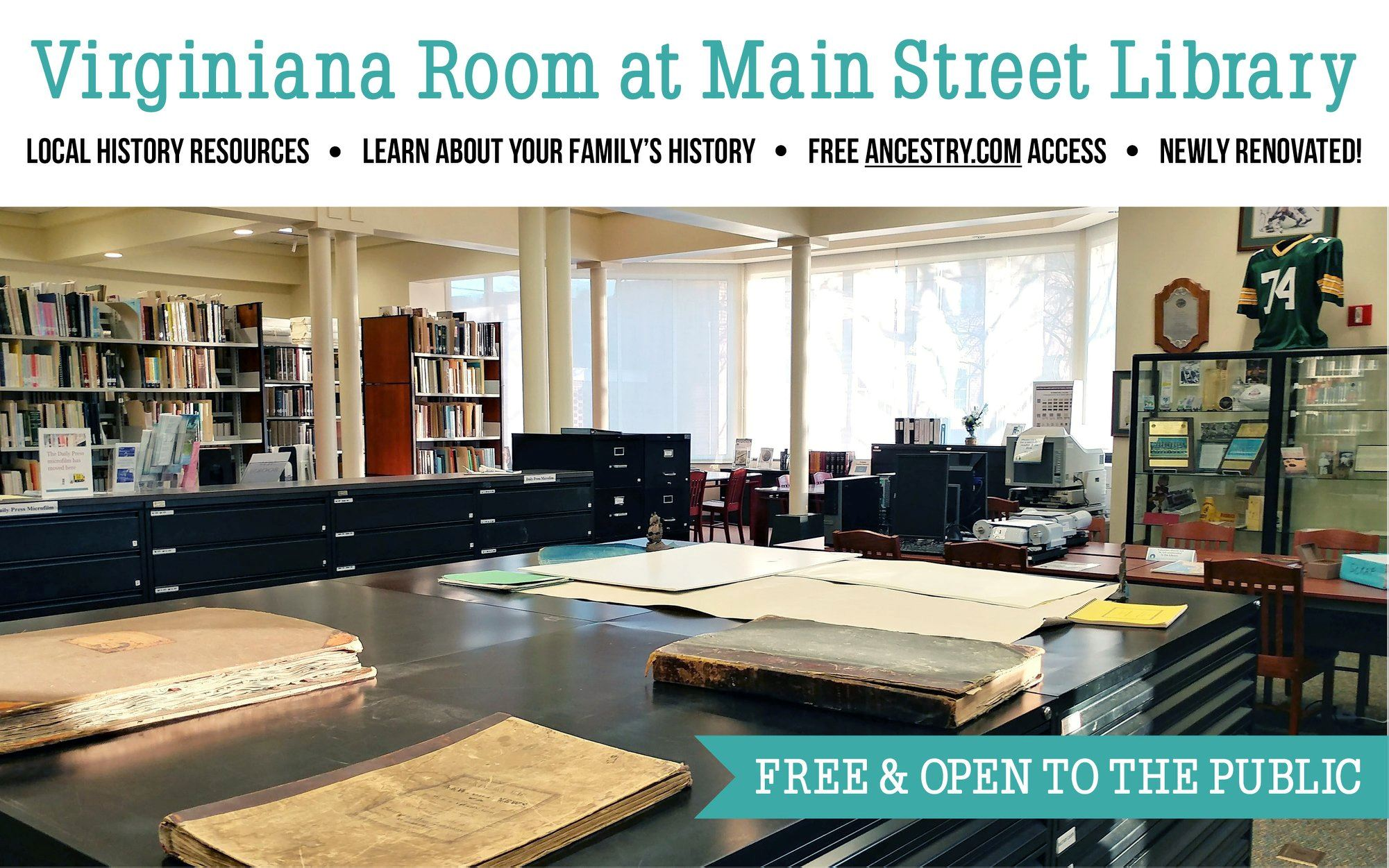 Virginiana Room Free and Open to the Public