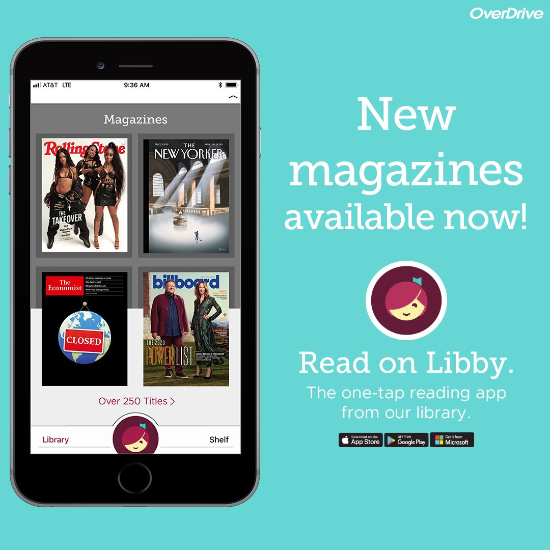 Libby App for digital books, magazines, and audiobooks
